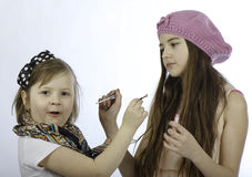 Kids make-up Royalty Free Stock Photo