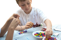Kids Making Crafts Royalty Free Stock Photography