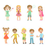 Kids With Maladies Collection Royalty Free Stock Images