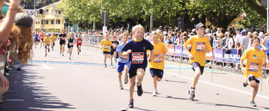 Kids Marathon Run Race Royalty Free Stock Images