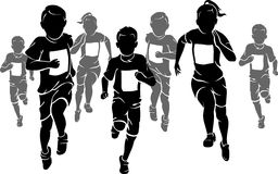 Kids Marathon royalty free illustration