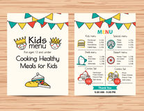 Kids meal menu vector template ,Restaurant menu design. Kids meal menu template ,Restaurant menu design Stock Image