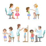 Kids On Medical Examination Stock Photo