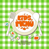 Kids menu. royalty free illustration