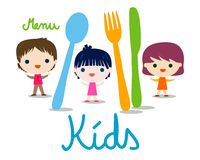 Kids menu background Stock Image
