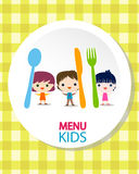 Kids menu background Royalty Free Stock Images