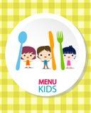 Kids menu background Royalty Free Stock Images