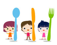 Kids menu background Stock Images