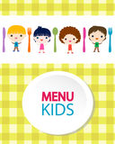 Kids menu background Royalty Free Stock Photo