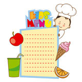 Kids menu Stock Image