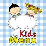 Kids menu Stock Photography