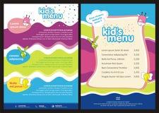 Kids menu - brochure - flyer vector template Royalty Free Stock Photo