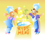 Kids Menu Card Design Child cartoon Royalty Free Stock Photography