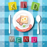 Kids menu, cartoon style Royalty Free Stock Photography