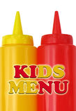 Fun childrens menu cover. Colourful kids menu cover royalty free stock images