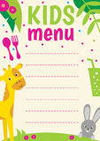 Kids menu Stock Photos