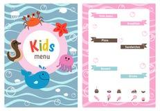 Kids menu design Royalty Free Stock Images