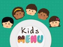 Kids Menu design Stock Image