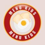 Kids Menu design Royalty Free Stock Image