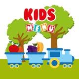 Kids menu Stock Photography
