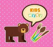 Kids menu Stock Photo