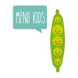 Kids menu design Stock Images