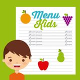 Kids menu design Stock Photography
