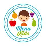 Kids menu design Stock Photos