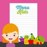 Kids menu design Stock Photos