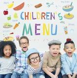 Kids Menu Food Recipes Cuisine Concept stock image