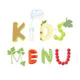 Kids menu letter Stock Photo