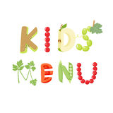 Kids menu letter Stock Photos