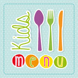 Kids menu Royalty Free Stock Photos