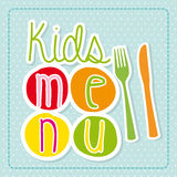 Kids menu Stock Image