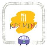 Kids menu vector template royalty free stock photo