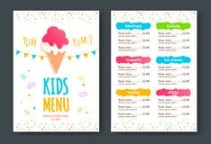 Kids menu vector template Royalty Free Stock Photos