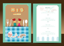 Kids menu. Vector template. Vintage Style Stock Photos