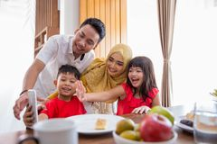 Family take picture together Royalty Free Stock Image