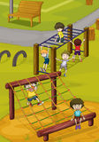 Kids and monkey bar Stock Photos
