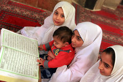 Kids in Mosque Stock Photo