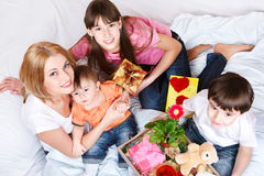Kids and mother Royalty Free Stock Image