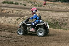 Kids at moto cross 5 Royalty Free Stock Image