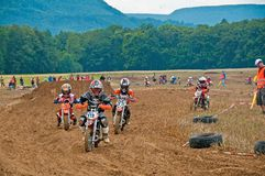 Kids Motocross Royalty Free Stock Images