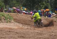 Kids,Motocross Fuse racing thailand 2015. Sakon Nakhon ,Thailand.September 20, 2015 Fuse racing thailand 2015  Super junior Motocross of Champ Stock Photography
