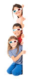 Kids in the movies Stock Photography