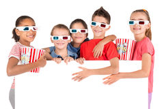 Kids in the movies Royalty Free Stock Images