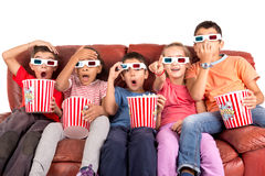 Kids in the movies Royalty Free Stock Image
