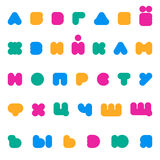 Kids multicolored rounded bold Cyrillic font. royalty free illustration