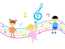 Kids and music Royalty Free Stock Photo