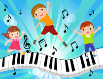Kids and music. Illustration of kids and music Stock Photos